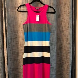 Colorblock Racerback Midi Dress